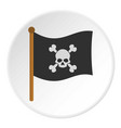 pirate flag icon circle vector image vector image