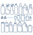 plastic bottles set vector image