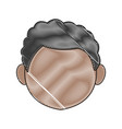 profile boy kid young head character vector image vector image