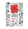 rap battle concert hip-hop music template vector image vector image