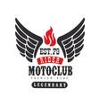 rider motoclub logo premium ride est 1979 design vector image vector image