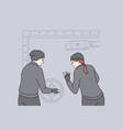 robbery and crime concept vector image