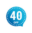 sale banner label isolated on white 40 percent vector image