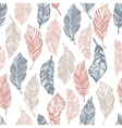 Seamless Boho pattern with feathers vector image
