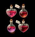 set bottles with love elixir vector image