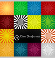 set of 14 retro ray backgrounds stylish vector image vector image