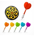 Set of colored Darts and target vector image vector image