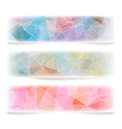 Set of geometric banners with polygonal pattern vector image