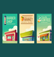 set vertical banners in retro style vector image