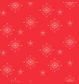 snowflake seamless pattern red new year vector image