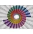 Spiral staircase bright colorful tunnel to the vector image vector image