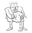 squeezing water from stone humor cartoon vector image vector image