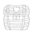 treasure chest isolated icon vector image vector image