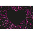 valentines day card with glitter hearts vector image vector image