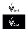 vine logo vector image vector image