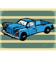 vintage background with retro car vector image vector image