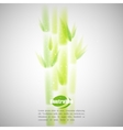 simple of green bamboo with blurred watercolor vector image