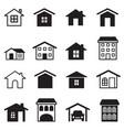 home condominium tower apartment icons set vector image