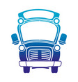 silhouette school bus transportation to education vector image