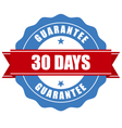 30 days guarantee stamp - warranty sign vector image vector image