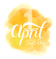 april fools day text vector image