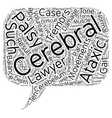 Ataxic Cerebral Palsy Lawyer text background vector image vector image