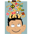Attention Deficit Hyperactivity Disorder vector image vector image