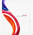 beautiful colorful wave template vector image vector image