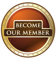 Become Our Member vector image