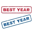 Best Year Rubber Stamps vector image vector image