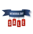 Big Memorial Day sale background template vector image vector image