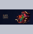 black friday discount sale with open gift box vector image vector image