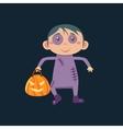Boy In Zombie Haloween Disguise vector image vector image