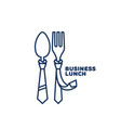 business lunch logo vector image vector image