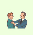 businessmen friendly meeting vector image