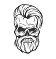 Charismatic skull hipster Vintage style vector image vector image