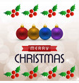 chrismtas card with cherries frame vector image