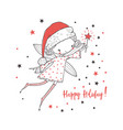 christmas fairy for kids vector image vector image