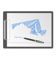 clipboard maryland map vector image vector image