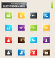 clothing store bookmark icons vector image vector image