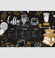 coffee and bakery restaurant menu 2 vector image vector image
