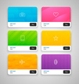 Colorful Gift Cards with prices vector image vector image