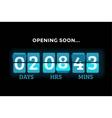 Countdown clock digits board panels timer vector image vector image