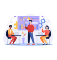design concept business meeting vector image