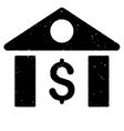 Dollar Bank Grainy Texture Icon vector image vector image