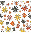 dotted flowers on a white background seamless vector image vector image