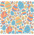 easter eggs pattern on white background vector image vector image