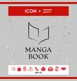elegant logo with book symbol like dry brush vector image vector image