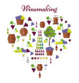 elite winemaking poster in heart shape vector image vector image