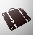 Emblem suitcase Stock vector image vector image